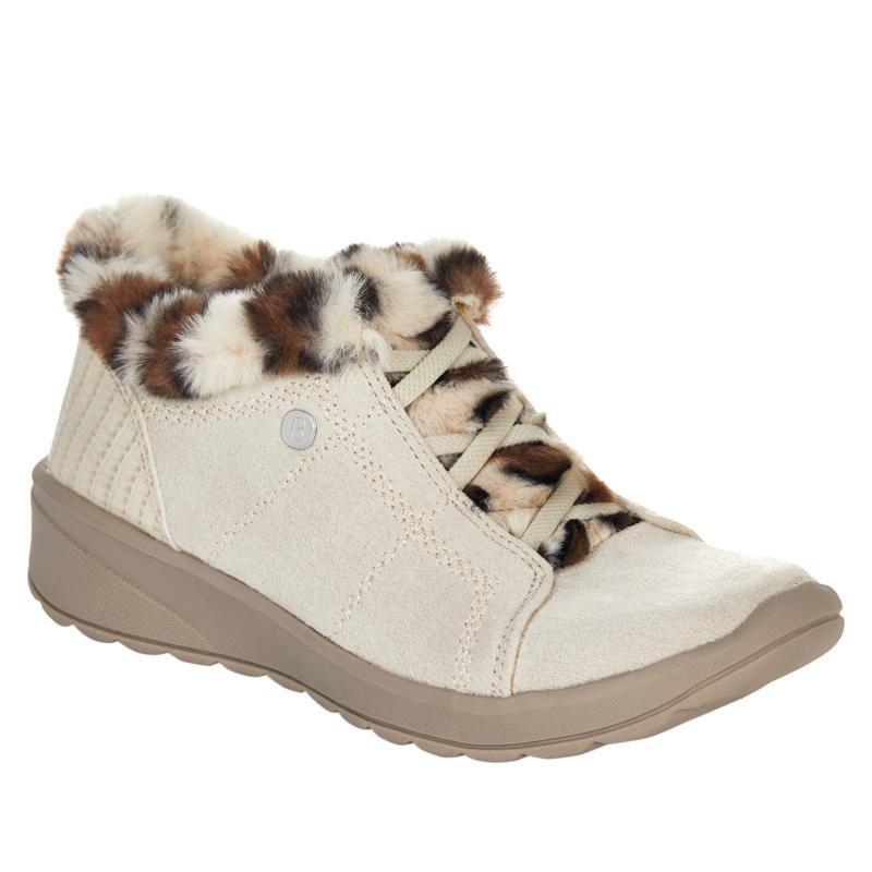 Bzees Golly Washable Faux Fur Trim Slip-On Bootie