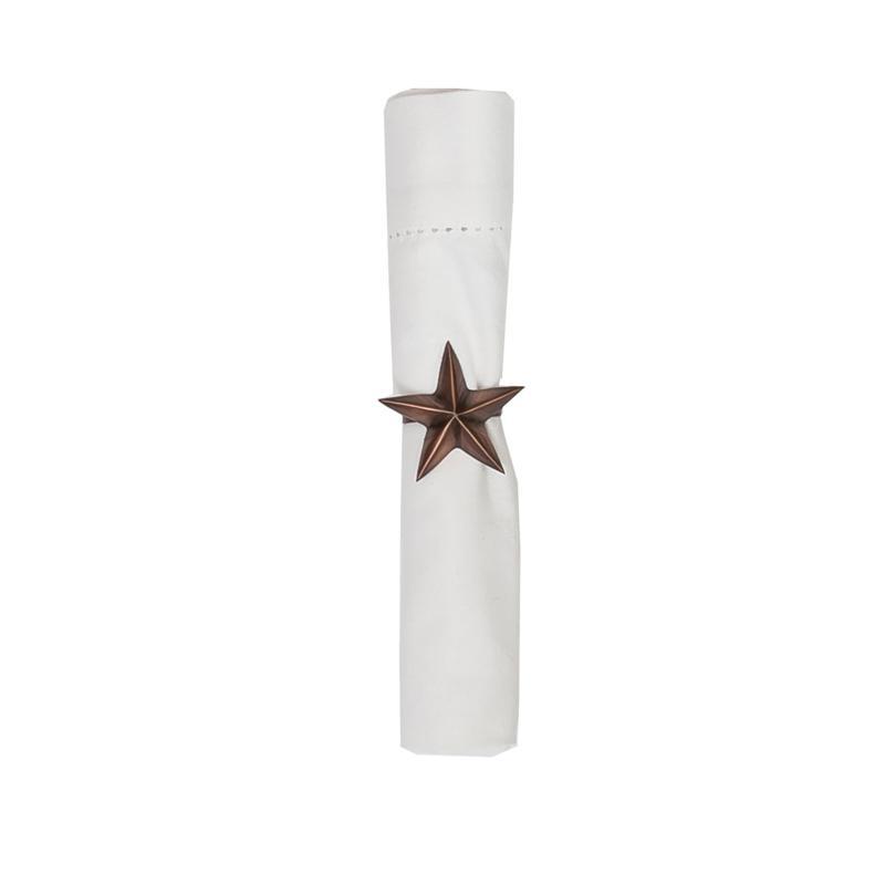 C&F Home Bronze Star Napkin Ring Set of 6