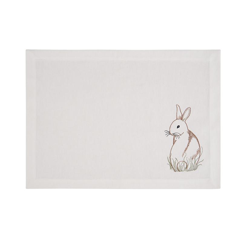 C&F Home Bunny Placemat Set of 6