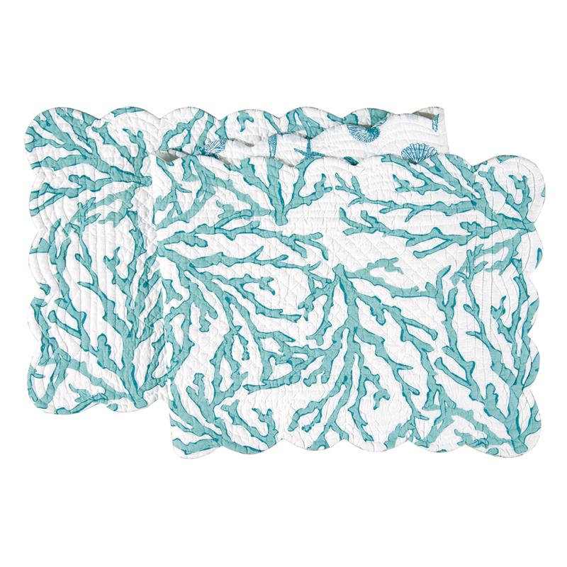 C&F Home Cora Blue Table Runner