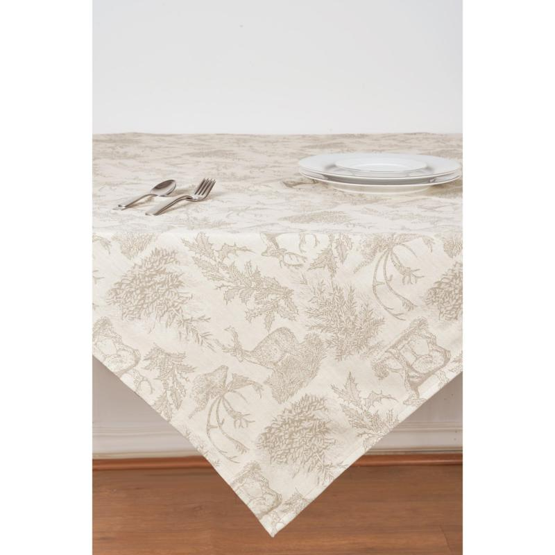 C&F Home Jacquard Stag Clay Table Topper