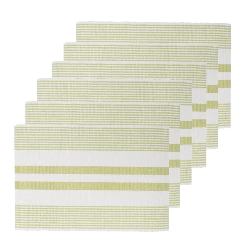 C&F Home Peridot & White Cotton Placemat Set of 6