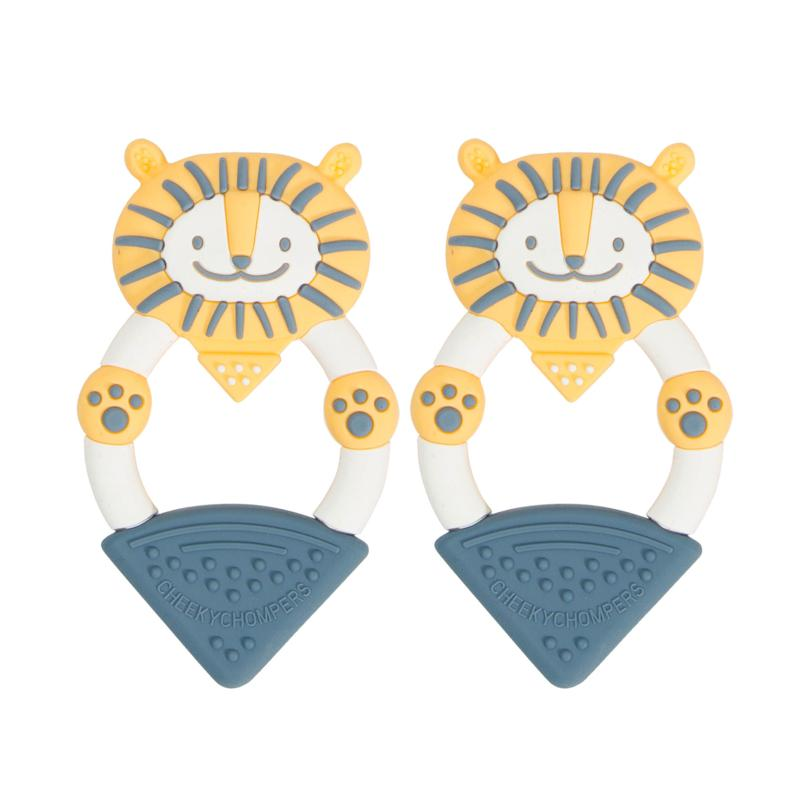 Cheeky Chompers Animal Teether Value 2-Pack - Lion