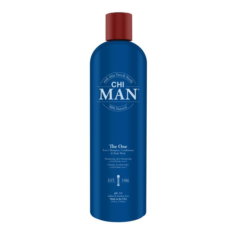 CHI Man The One 3-In-1 Shampoo, Conditioner, Body Wash 25 oz.