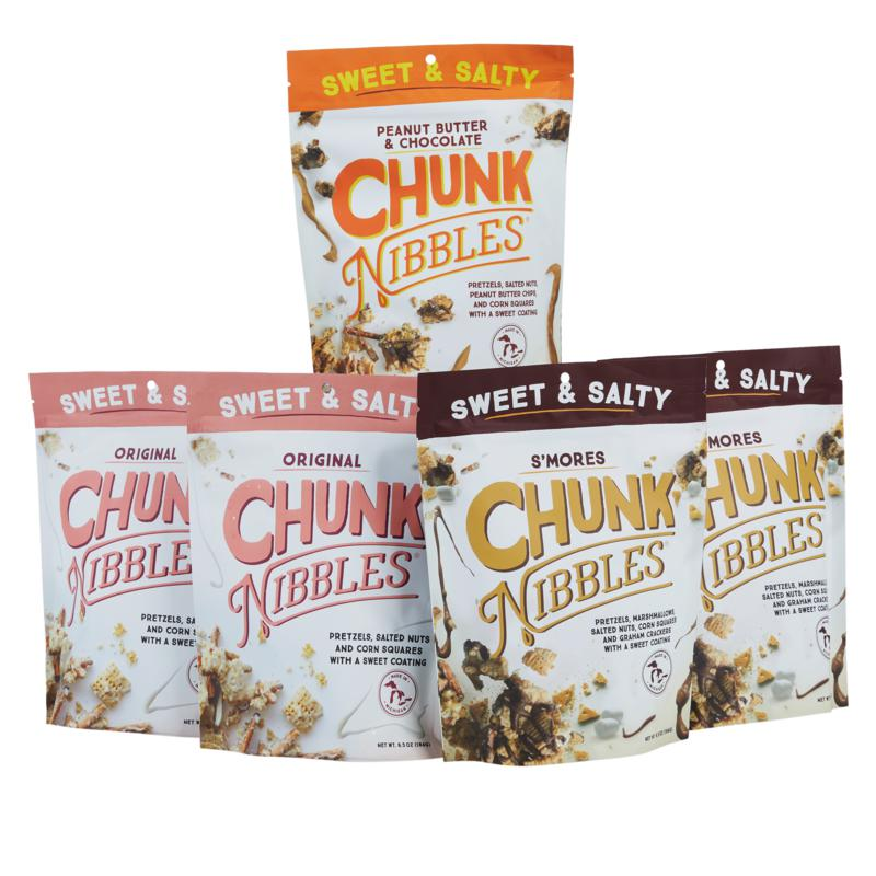 Chunk Nibbles (5) 6.5 oz. Bags Sweet & Salty Snack Mixes Auto-Ship®