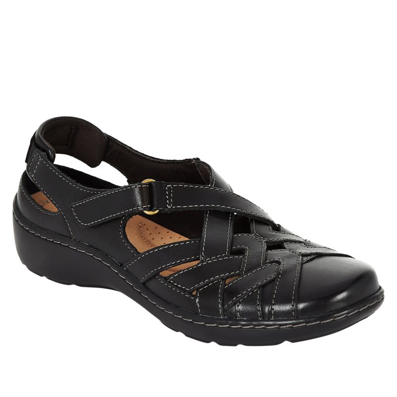 Clarks Collection Cora Dream Leather Fisherman Sandal