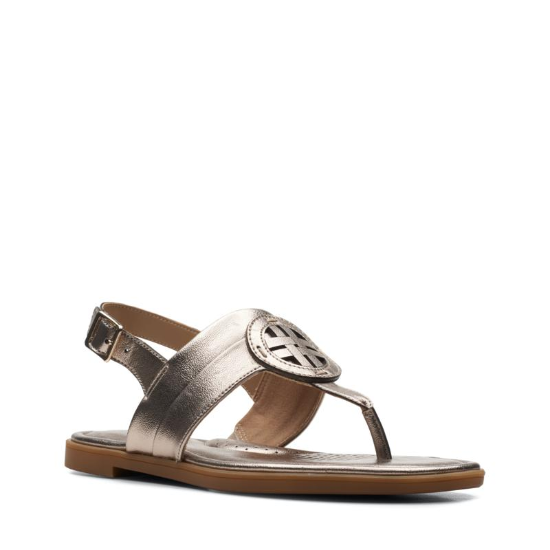 Clarks Collection Reyna Glam T-Strap Sandal