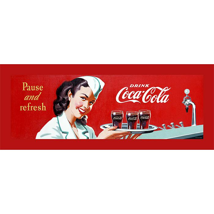 "Coca-Cola ""Coke Waitress"" Canvas Art"