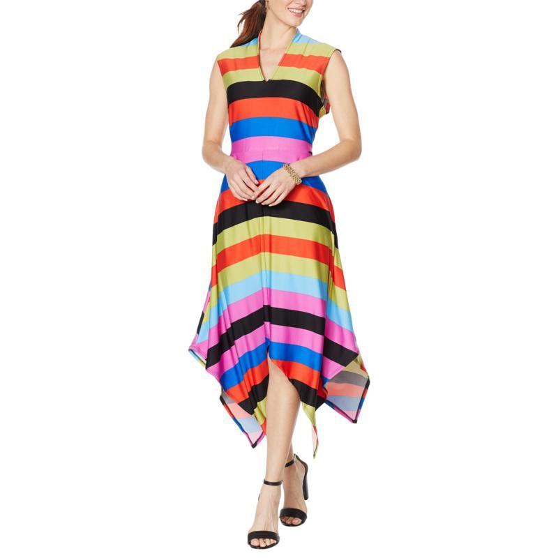 Coldesina Asymmetric Hem Sleeveless Kayla Dress