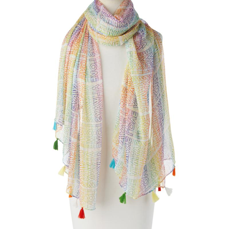 Collection 18 Love Always Wins Oblong Scarf