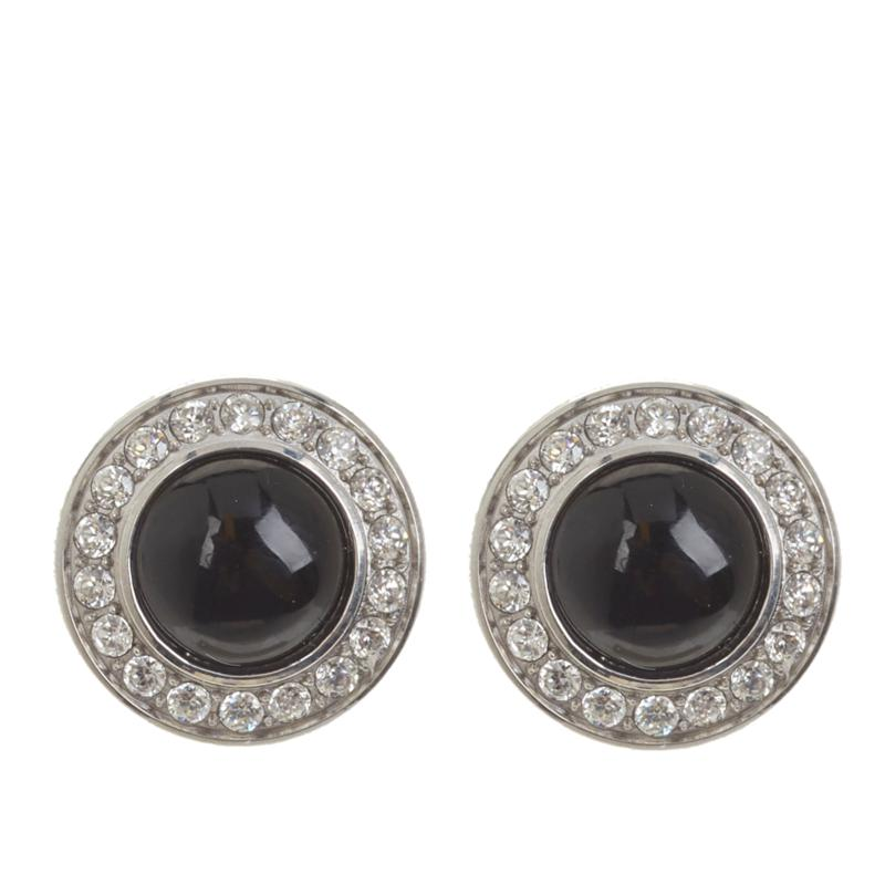 Colleen Lopez Gemstone Cabochon and White Topaz Earrings