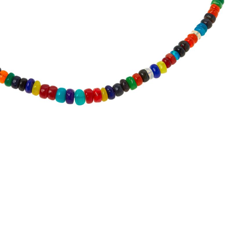 Colleen Lopez Multicolor Opal Beaded Necklace with Magnetic Clasp