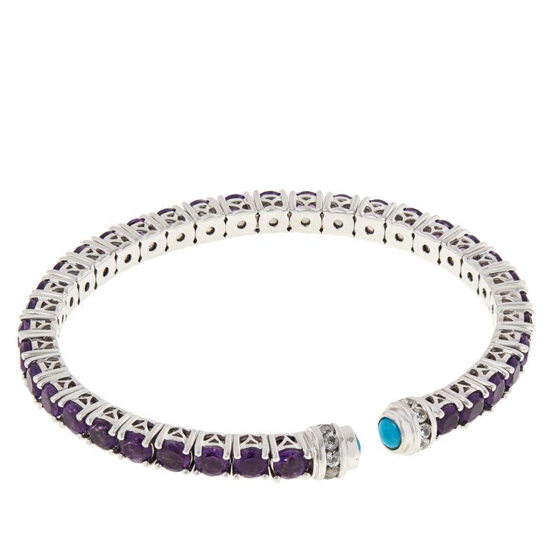 Colleen Lopez Sterling Silver Multi Gemstone Cuff
