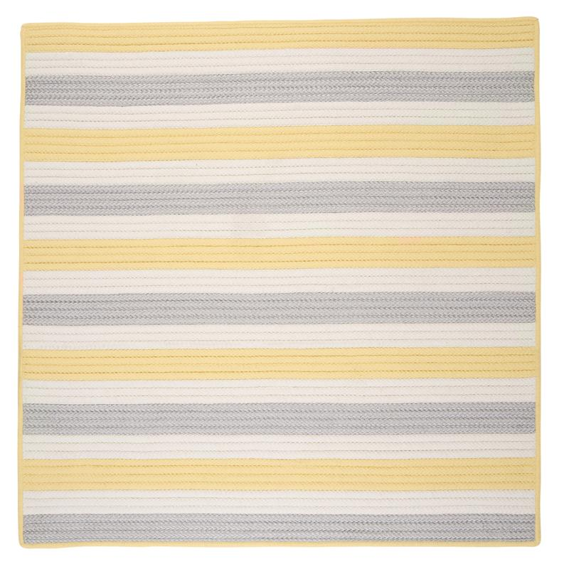Colonial Mills Stripe It 8' Square Rug - Yellow Shimmer