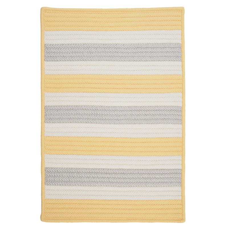 Colonial Mills Stripe It 8' x 11' Rug - Yellow Shimmer