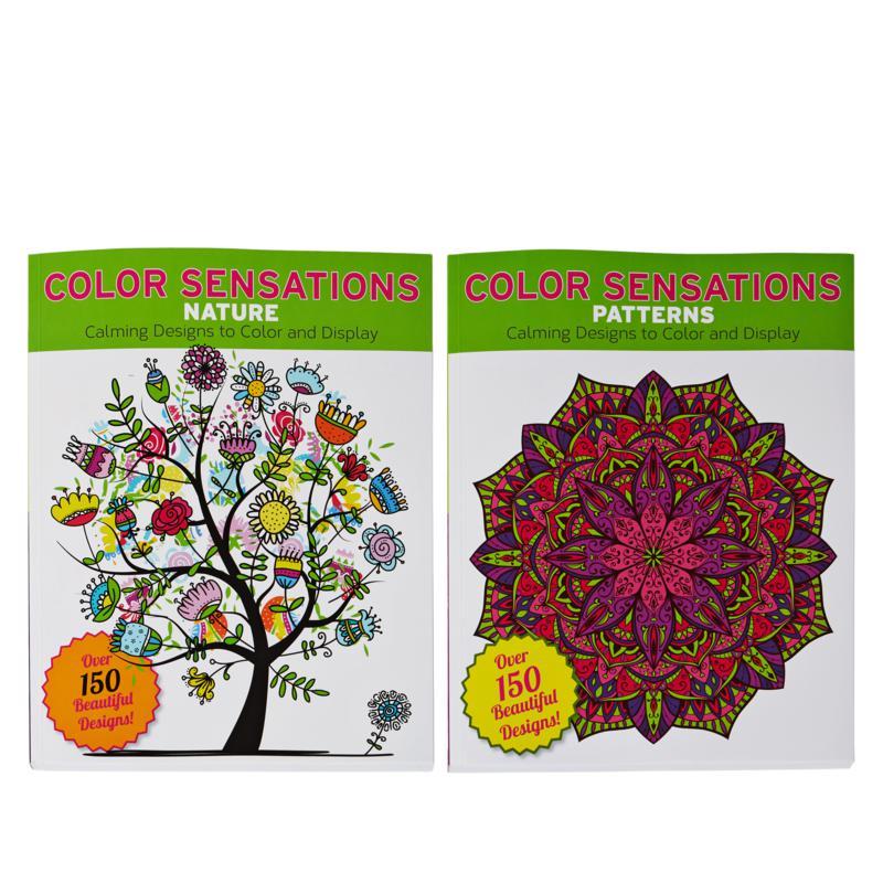 Color Sensation Set Of 2 Adult Coloring Books - 9547855 HSN