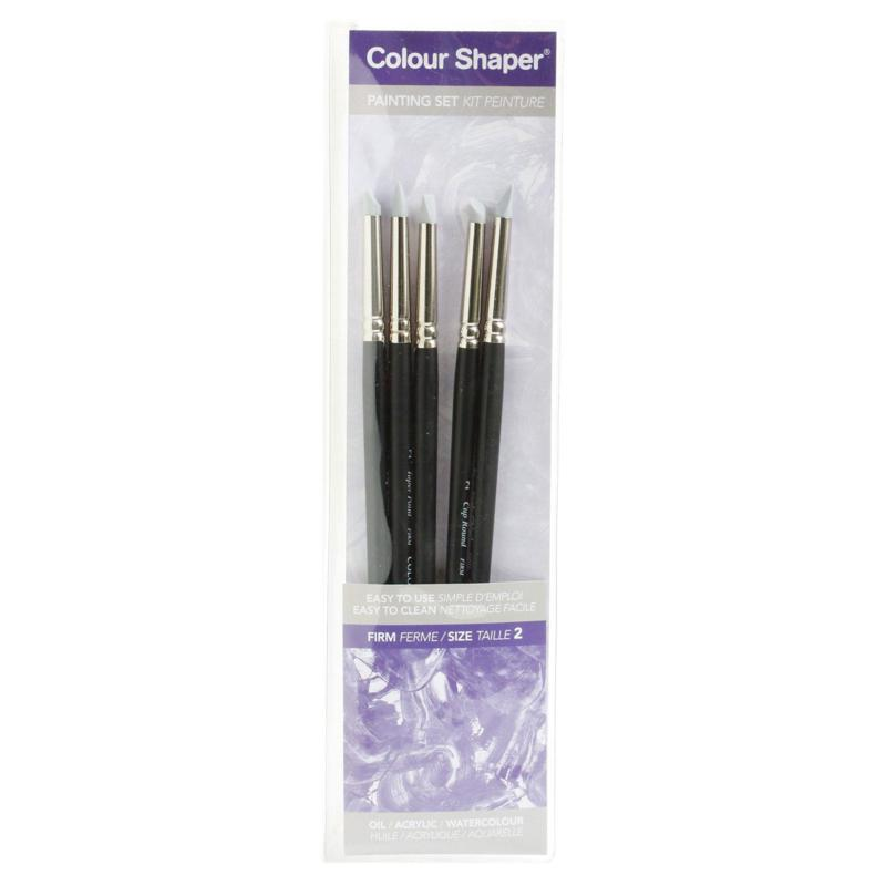 COLOUR SHAPER 5pc Painting Tool and Pastel Blending Set  - Firm No. 2