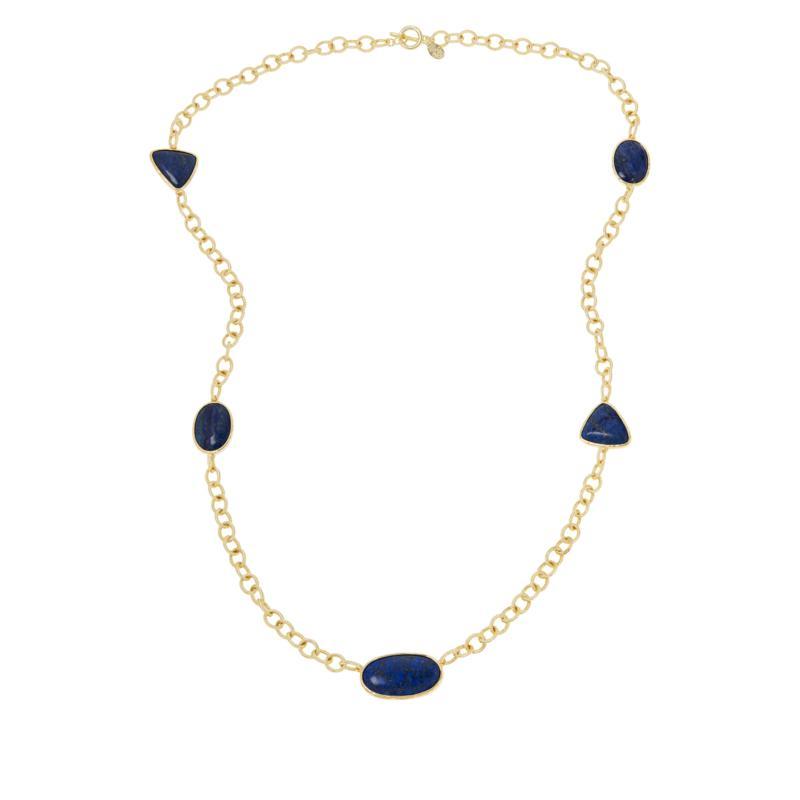 """Connie Craig Carroll Jewelry Robyn 41-1/2"""" Gemstone Chain Necklace"""