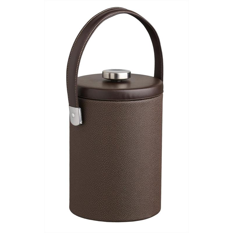 Cosmopolitan 2-Quart Ice Bucket with Faux Leather Lid