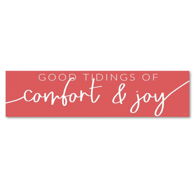 "Courtside Market Comfort and Joy 6"" x 24"" Wooden Panel"