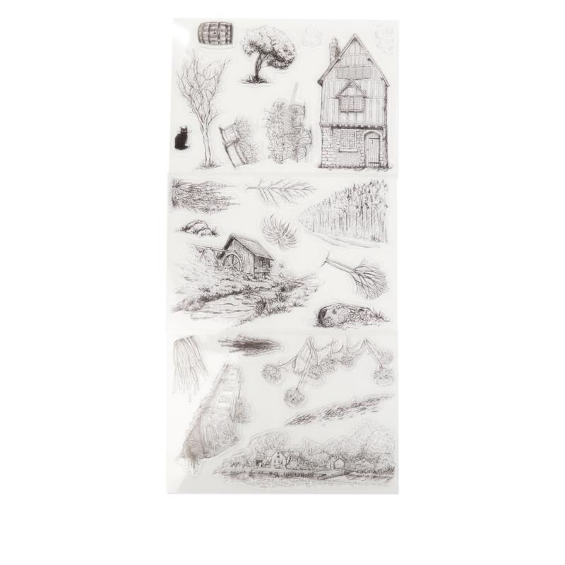 Crafter's Companion Build-A-Scene Clear Stamp 3-pack