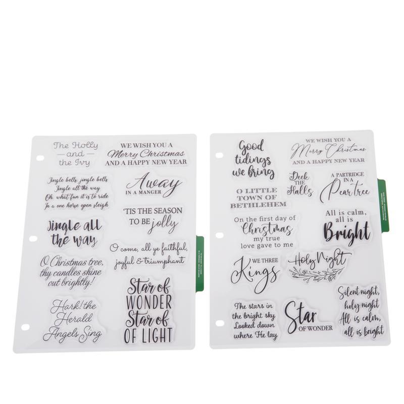 Crafter's Companion Christmas Hymns Stamp Set