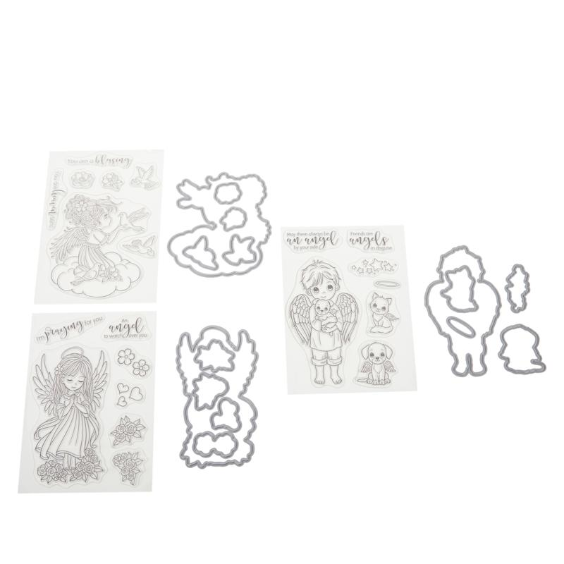 Crafter's Companion Conie Fong Angel Stamps & Dies Set
