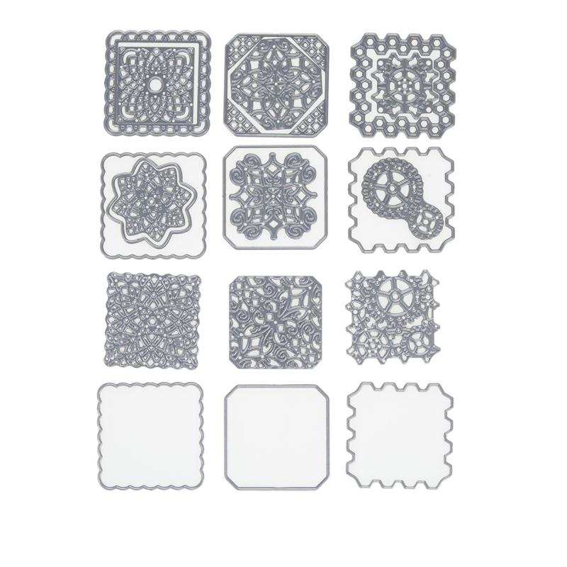 Crafter's Companion Create-A-Card Lattice Patchwork Patterns Die Sets