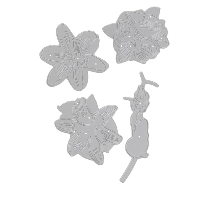 Crafter's Companion Double-Sided Orchid and Lily Dies