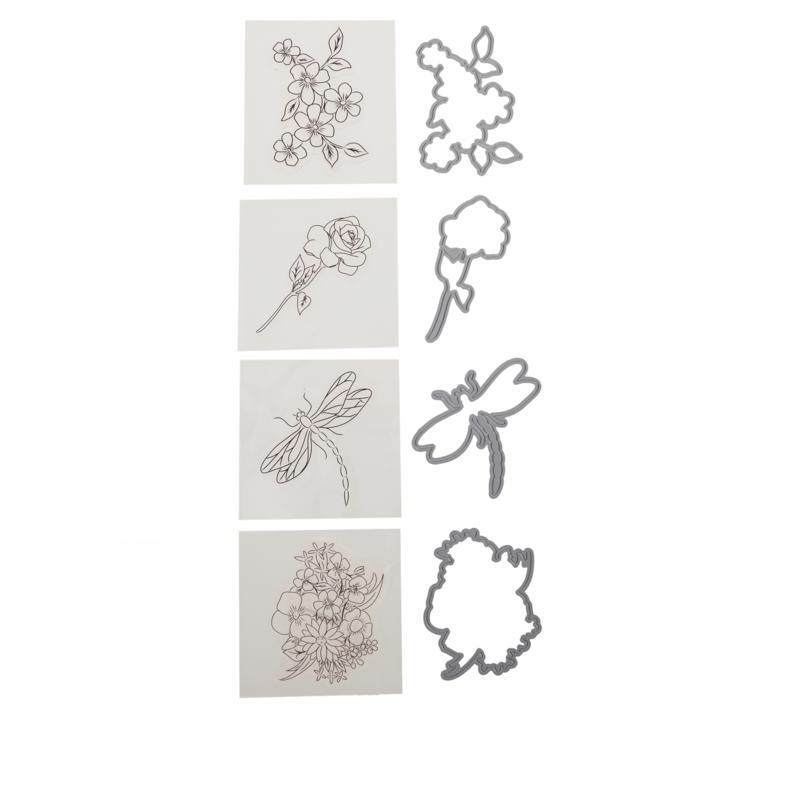 Crafter's Companion Gemini Garden Mini Icon Stamp and Die Set