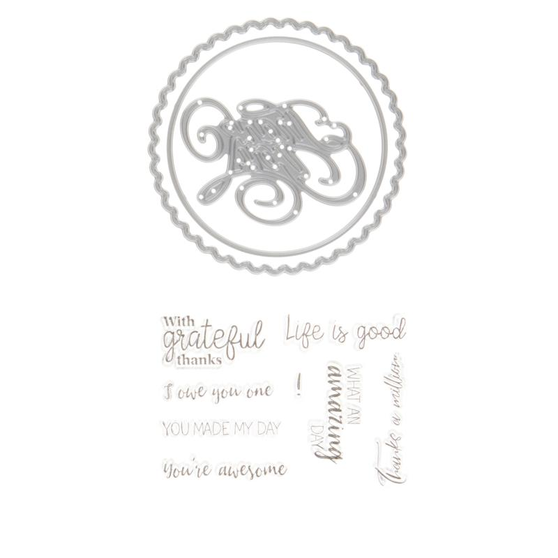 """Crafter's Companion Gemini """"Special Thanks"""" Shaker Card Stamp & Die"""