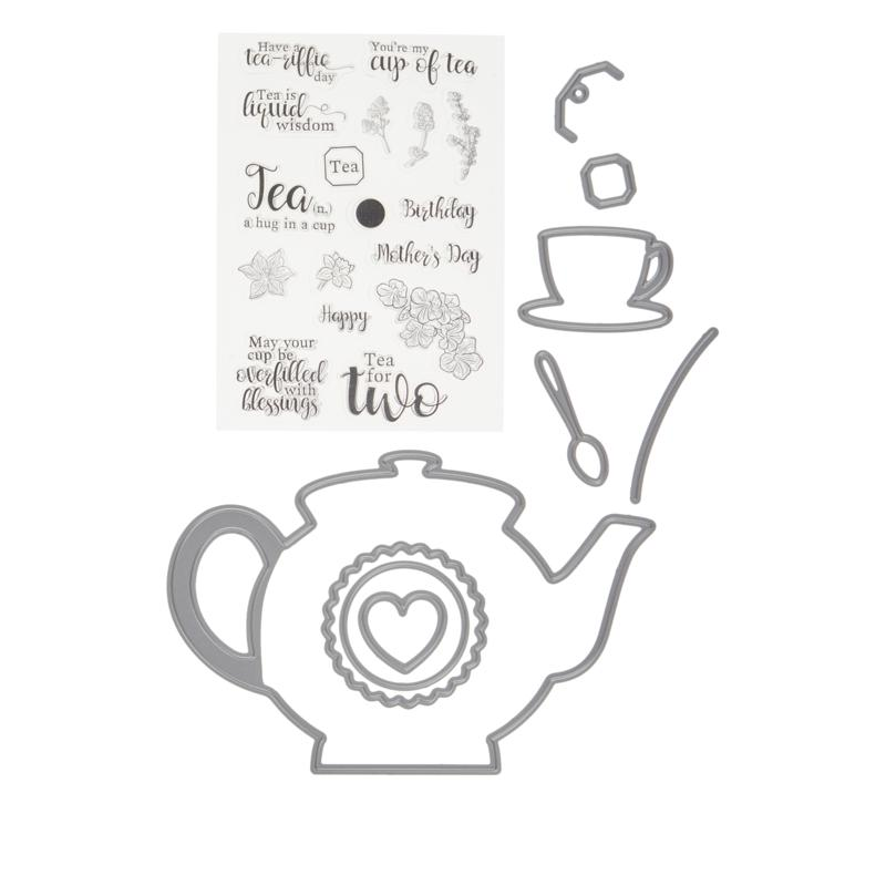 """Crafter's Companion Gemini """"Time for Tea"""" Shaped Card Base Dies"""