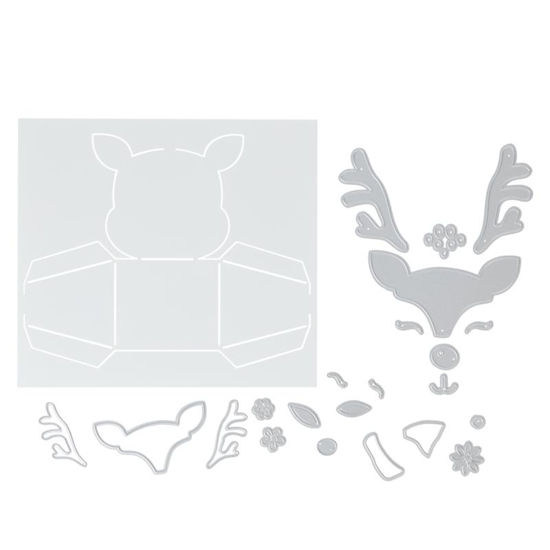 Crafter's Companion Reindeer Box and Face Die Set