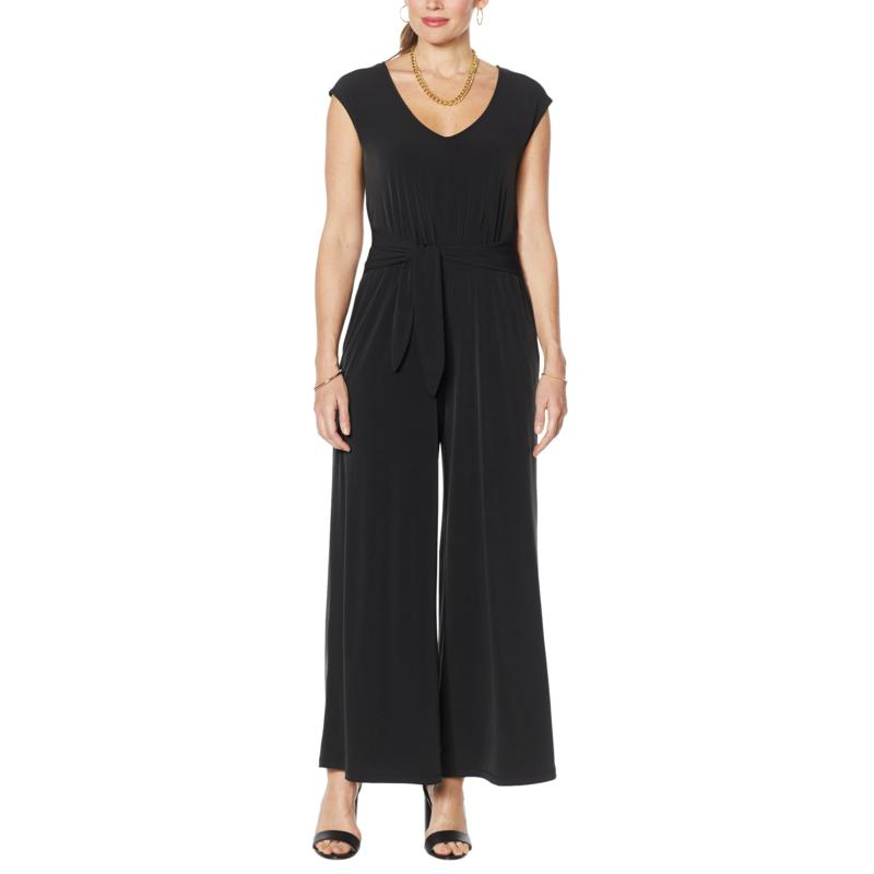 Curations Jersey Knit Tie-Front Jumpsuit