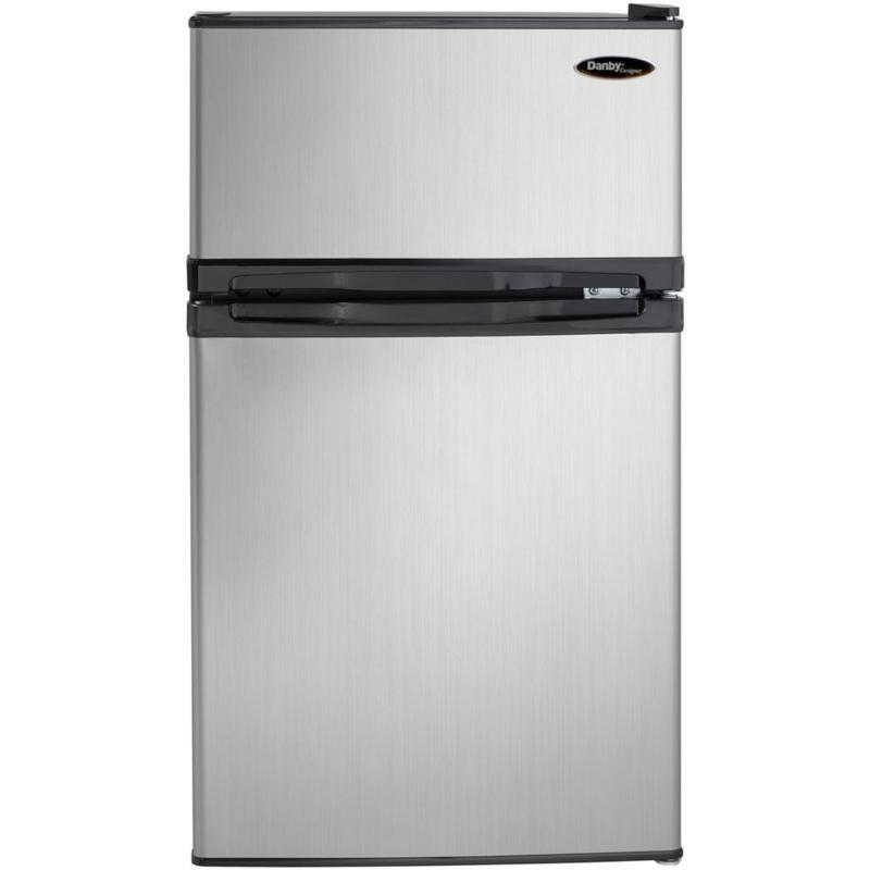 Danby 3.1 Cu. Ft. Refrigerator/Freezer - Black/Steel