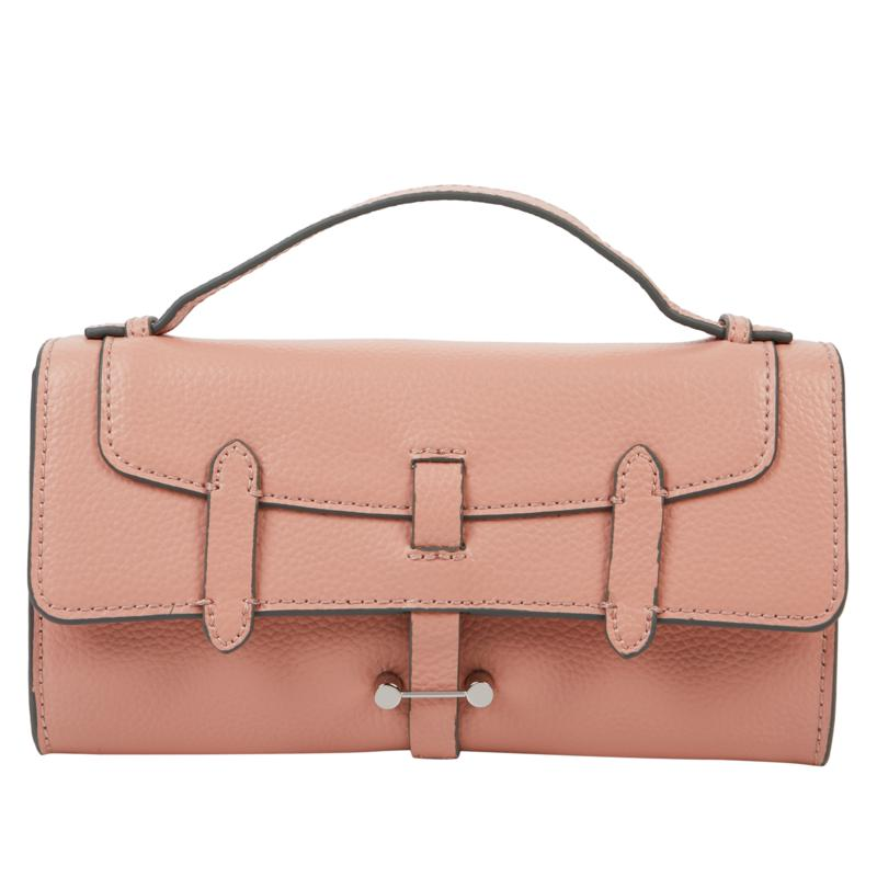 Danielle Nicole Leather Double-Flap Crossbody