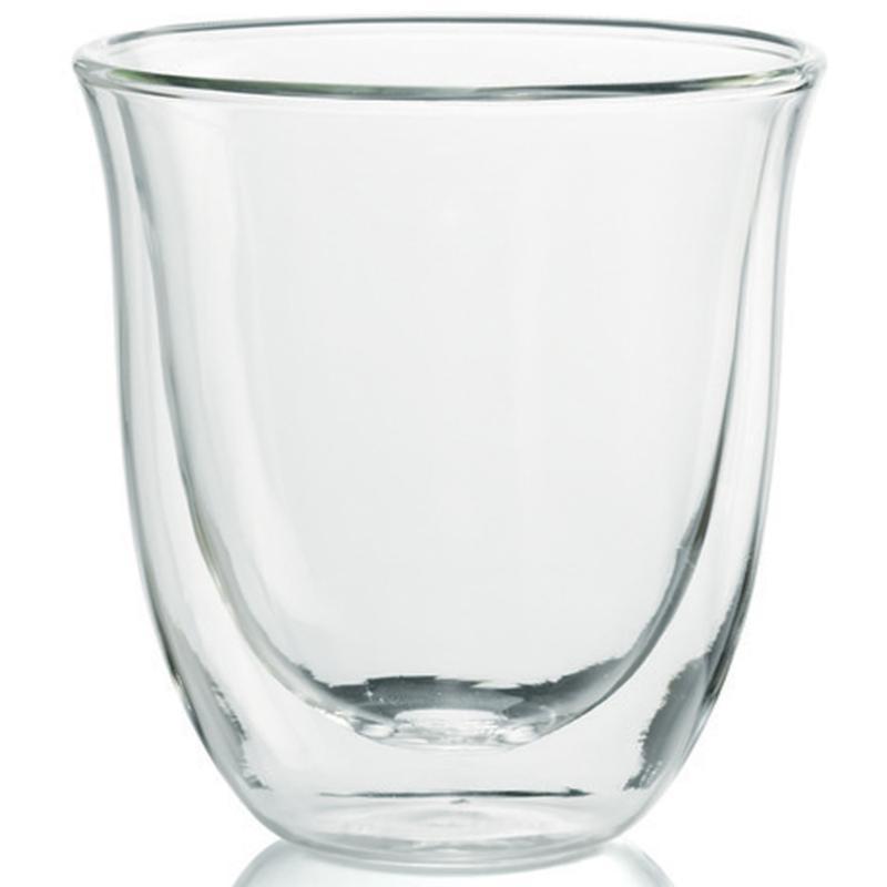 De'Longhi Set of 6 Double Wall Cappuccino Glasses