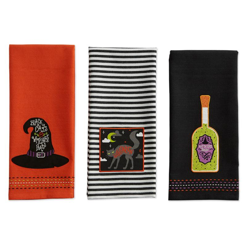 Design Imports Bewitched Embellished Kitchen Towel Set of 3