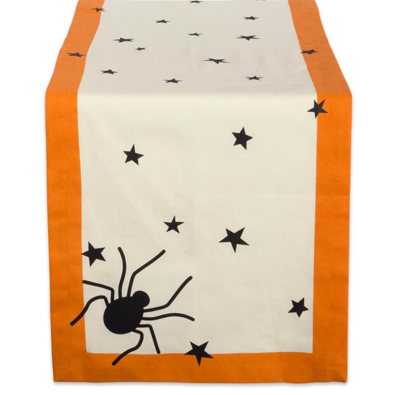 Design Imports Black Stars Print Table Runner 14-inch by 72-inch