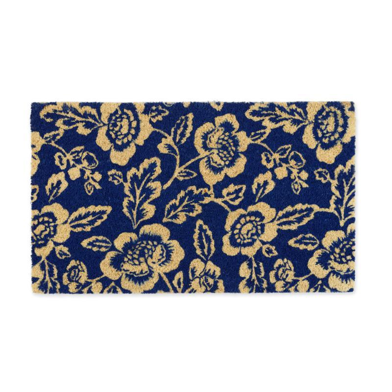 Design Imports Blue Peonies Doormat