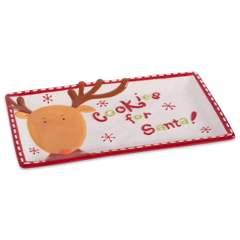 Design Imports Cookies for Santa Christmas Cookie Serving Platter