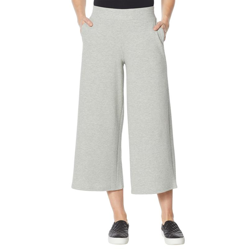 "DG2 by Diane Gilman ""DG Downtime"" Textured Knit Cropped Pant"