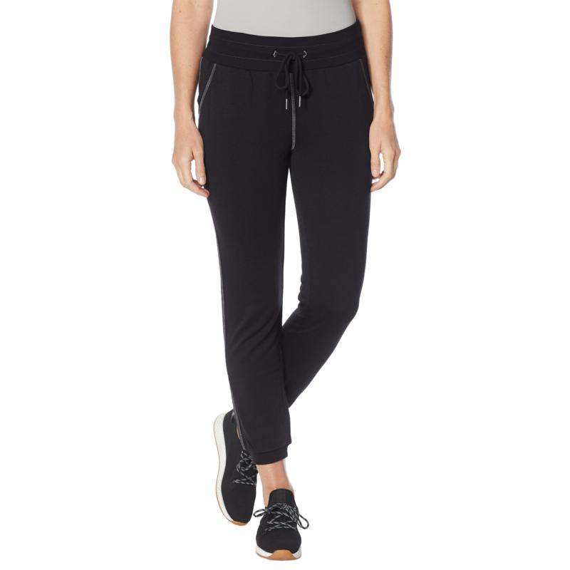 DG2 Downtime Wide Waistband Coverstitched Slim Jogger Pant