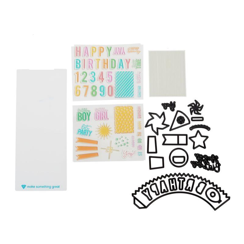 Diamond Press Birthday Cupcake Stamp and Die Set