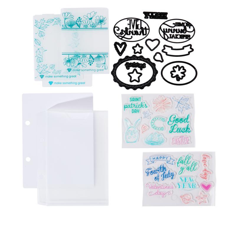 Diamond Press Seasons Stamp and Die Kit
