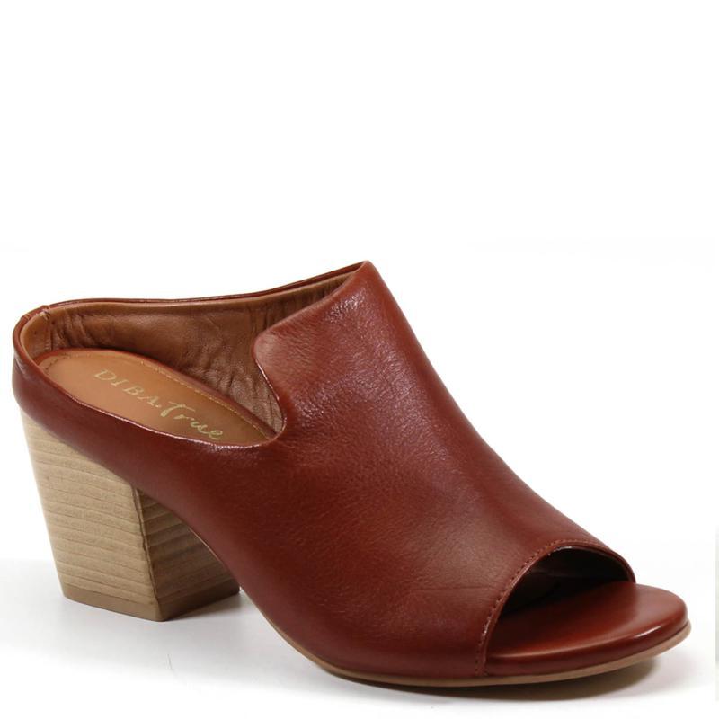Diba True Catch She Leather Peep-Toe Mule
