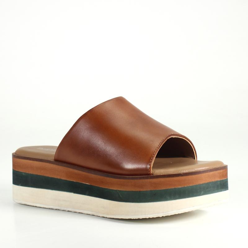 Diba True Down Ward Slip on Leather Sandal