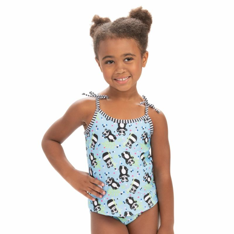 Dolfin Little Dolfin Pandie-Print 2-piece Tankini Swimsuit Set