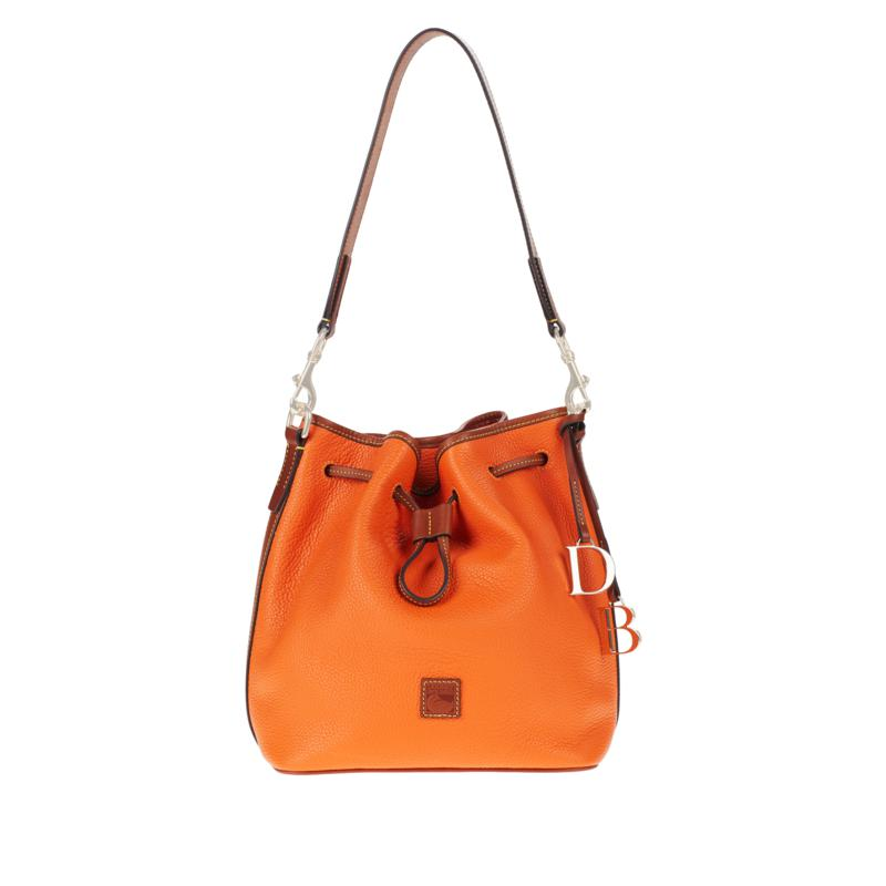 Dooney & Bourke Pebble Leather Large Drawstring Bag