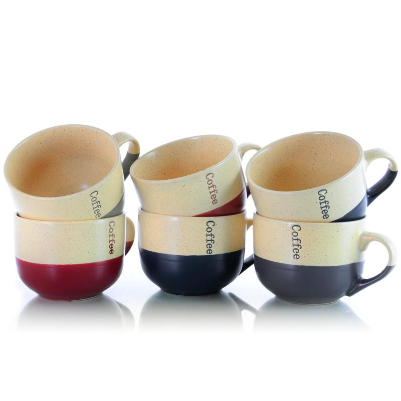 Elama Latte Loft 6-Piece 18 oz. Mug Set - Assorted Colors